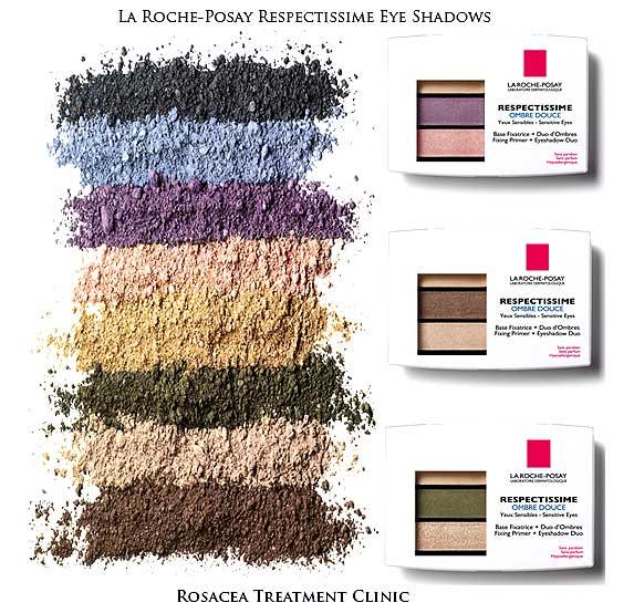 Makeup for Ocular Rosacea: La Roche-Posay Respectissime Ombre Douce Eye Shadows.