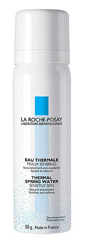 Spring water and other facial mists can calm the redness of rosacea when used alongside appropriate skin care.